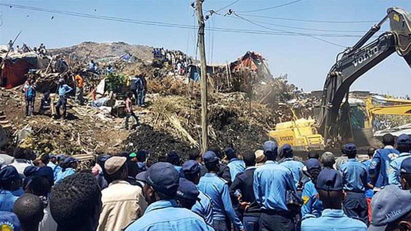 Na wysypisku śmieci osunęła się ziemia. Nie żyje ponad 35 osób