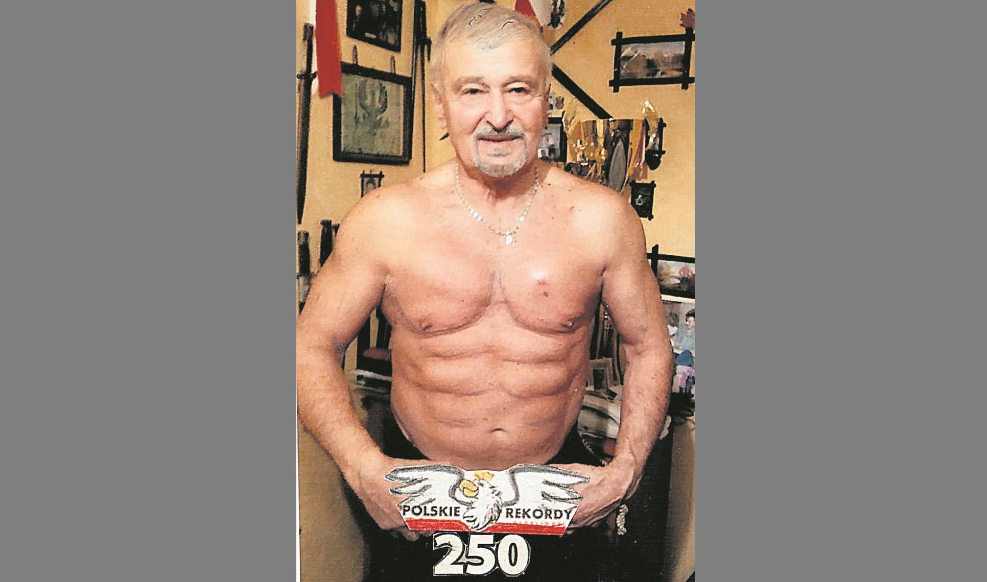 78-latek bije rekordy Guinnessa