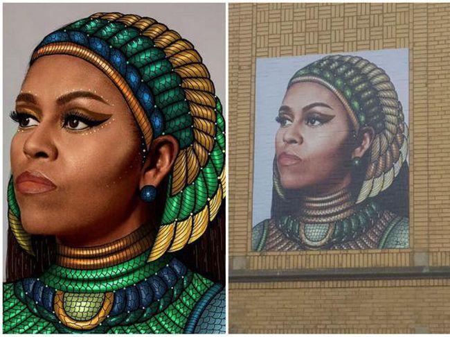 Kontrowersje wokół muralu Michelle Obamy w Chicago