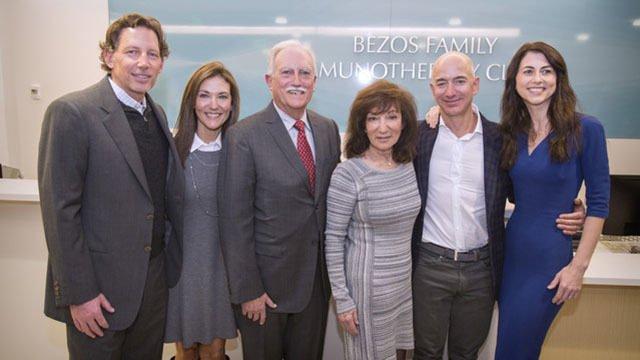 Rodzina Jeffa Bezosa przekazała 35 mln na badania nad rakiem