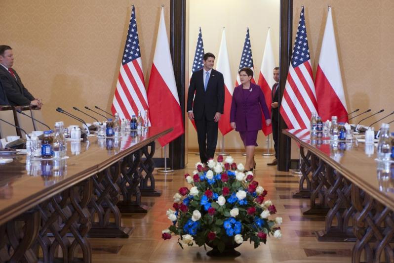Spotkanie premier Szydło z przewodniczącym Izby Reprezentantów USA Paulem Ryanem