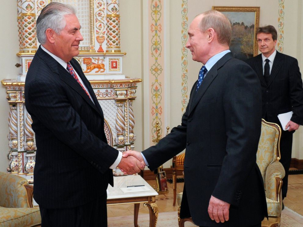 Echa spotkania Rexa Tillersona z Władimirem Putinem