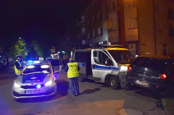 Policyjny pościg zakończony kolizją z radiowozem -kierowca był pod wpływem narkotyków