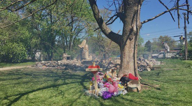 Spłonął dom w którym znaleziono ciało 16-miesięcznej dziewczynki