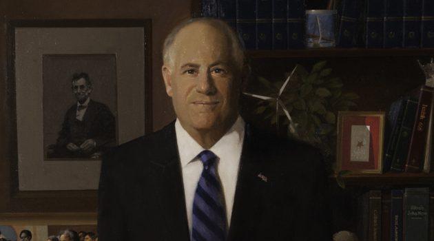 Portret byłego gubernatora zaprezentowany na stanowym Kapitolu