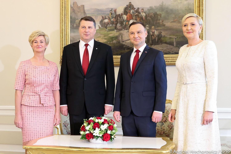 Andrzej Duda i Raimonds Vejonis deklarują polsko-łotewską przyjaźń