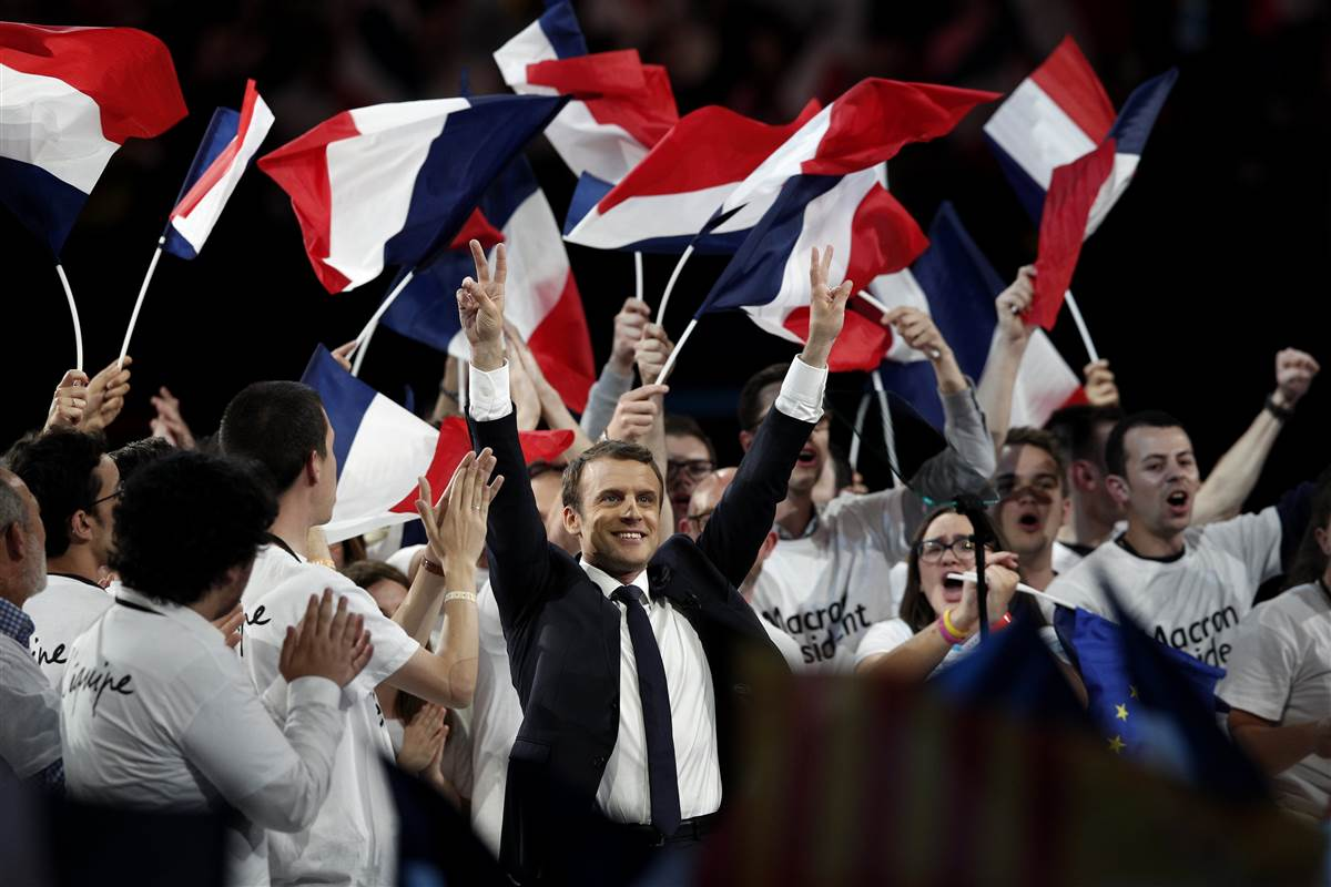 Emmanuel Macron prezydentem Francji!