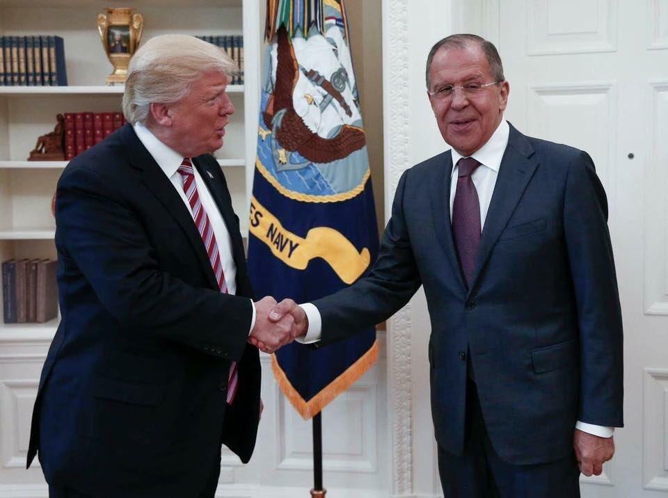 Siergiej Ławrow spotkał się w Waszyngtonie z prezydentem Donaldem Trumpem