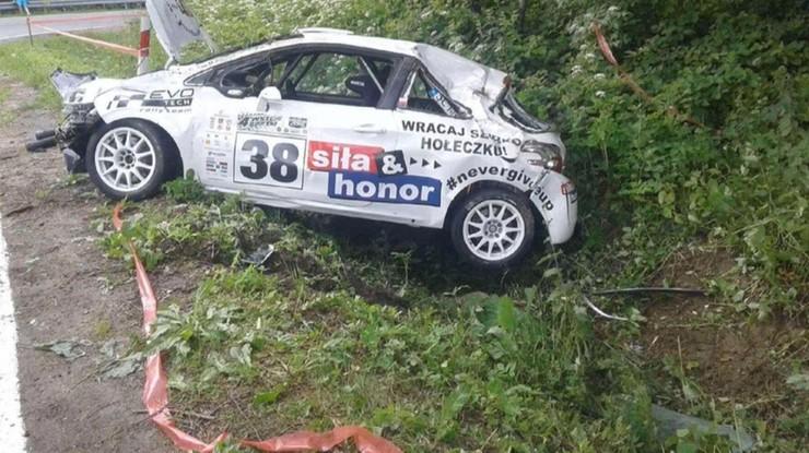 Wypadek na trasie rajdu Magurskiego