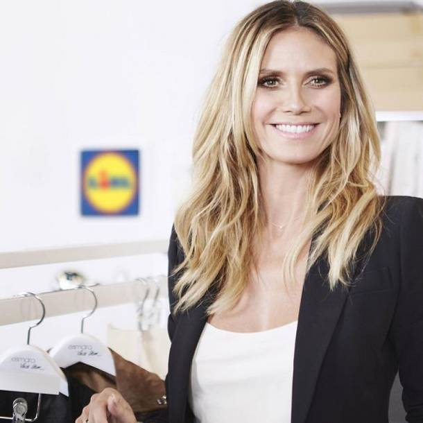 Supermodelka Heidi Klum zaprojektuje kolekcję ubrań dla… Lidla