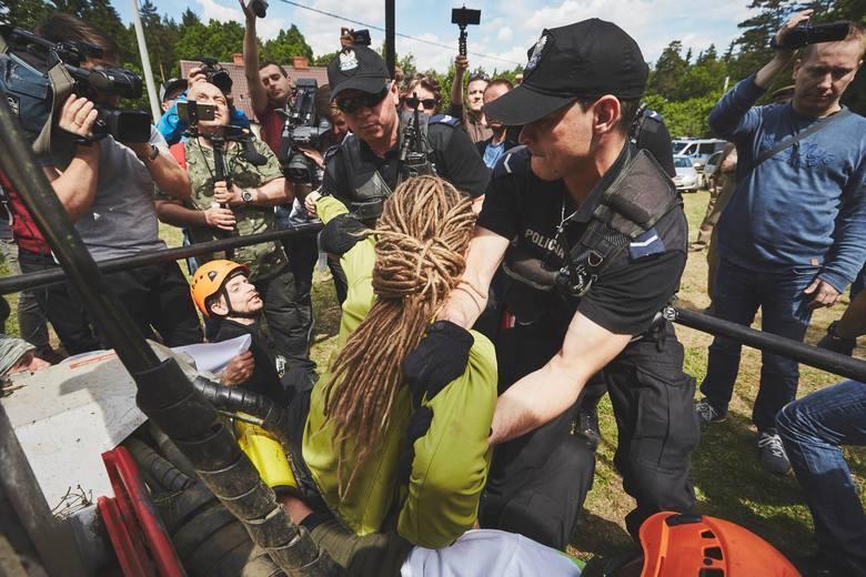 Protestujący karani za blokady w Puszczy Białowieskiej