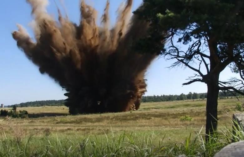 Detonacja półtonowej bomby z czasów II wojny światowej wykopanej w Białymstoku