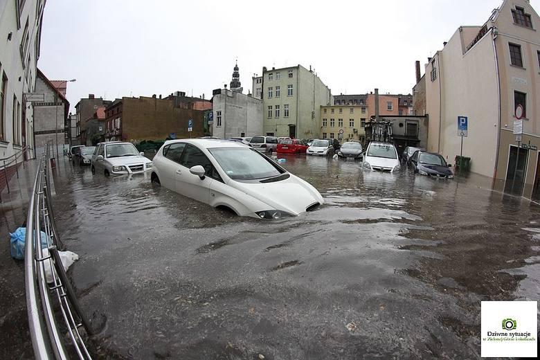 Zielona Góra: Woda zalewała wszystko