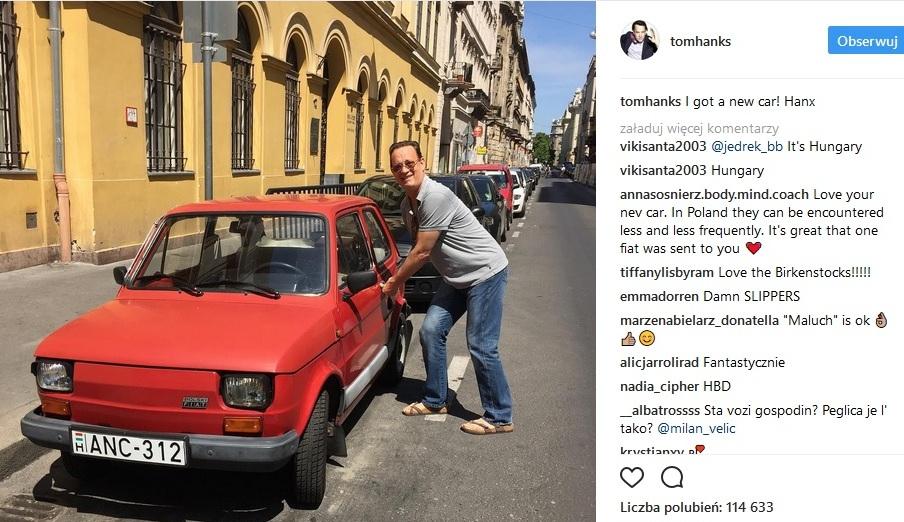 Tom Hanks przyjedzie do Bielska-Białej. W podzięce za Fiata