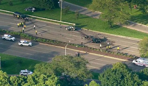 Poważny wypadek na Lake Shore Drive. Zginęła jedna osoba a 7 zostało rannych