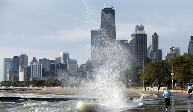Chicago umacnia brzegi wzdłuż jeziora Michigan