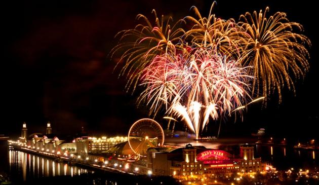 Blisko 100 tysięcy osób spodziewanych jest na pokazie fajerwerków na Navy Pier