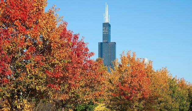 Do Chicago zbliża się chłodny front atmosferyczny