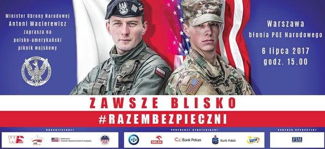 Polsko-amerykański piknik wojskowy z okazji wizyty Donalda Trumpa