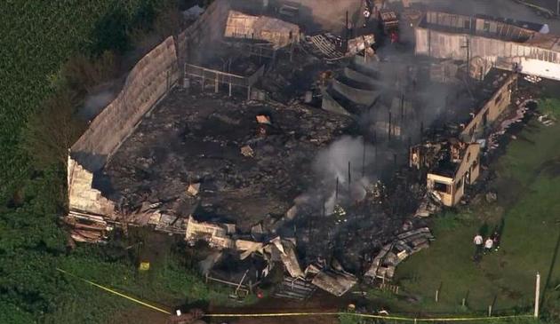 18 koni zginęło w pożarze stadniny w Plainfield