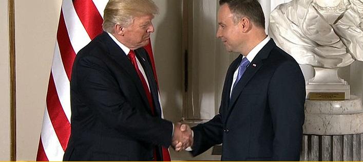 Prezydent Andrzej Duda spotkał się z prezydentem Donaldem Trumpem