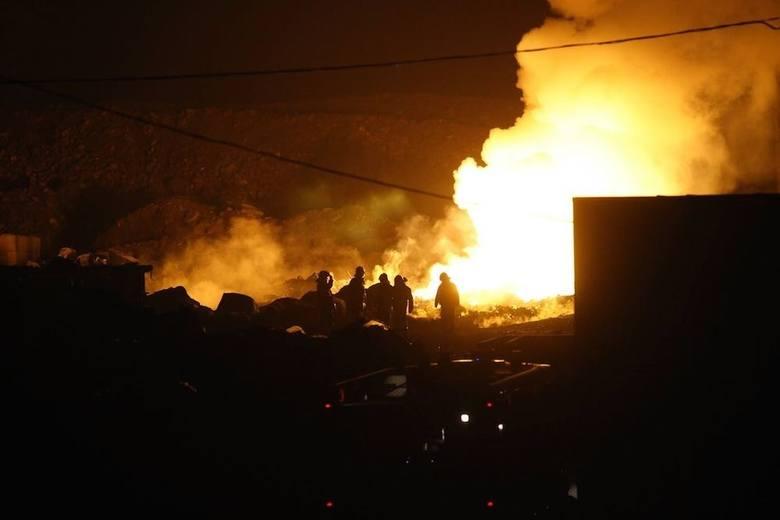 Wielki pożar wysypiska w Siemianowicach Śląskich. Trwa akcja gaśnicza