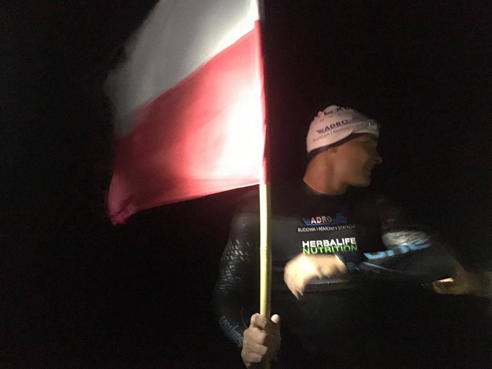 Sebastian Karaś, jako pierwszy człowiek, przepłynął wpław Bałtyk