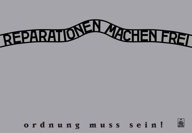 """Kontrowersyjna grafika Telewizji Republika – """"Reparationen machen frei"""""""