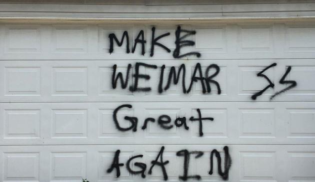 Antysemickie graffiti w dzielnicy Lincoln Square