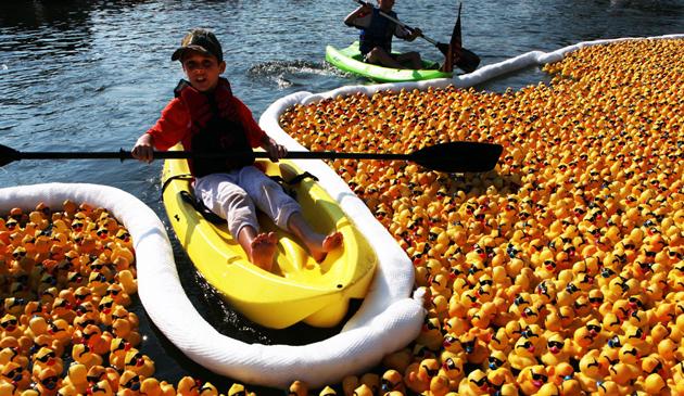 Rubber Ducky Derby na rzece Chicago