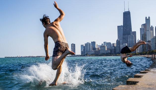 Rekordowo ciepły 20 września w Chicago