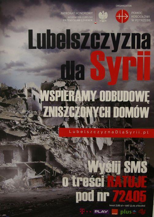 Ruszyła akcja Lubelszczyzna dla Syrii