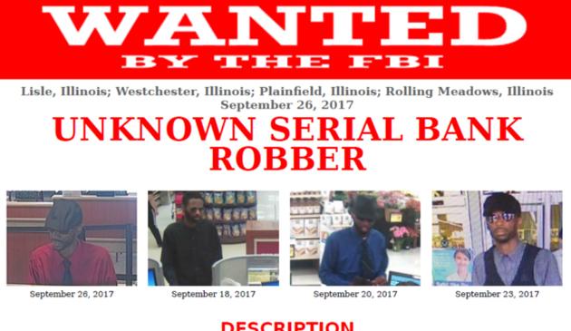 FBI poszukuje sprawcy napadów na 5 banków