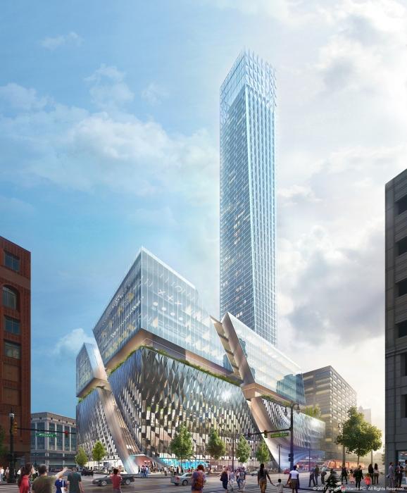 Najwyższy budynek w Detroit będzie mierzył 800 stóp