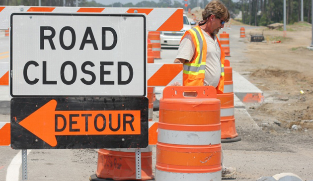 Utrudnienia na autostradzie I-90