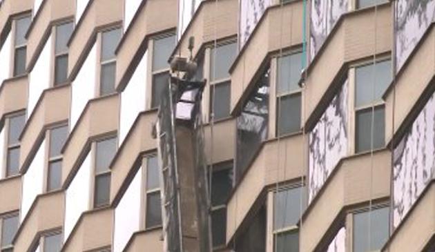 Na chicagowskim wieżowcu zerwało się rusztowanie z robotnikami