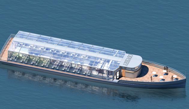 Szklany statek pasażerski będzie pływał po rzece Chicago