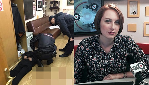 Rosja: Nożownik ugodził znaną dziennikarkę w szyję w siedzibie opozycyjnego radia