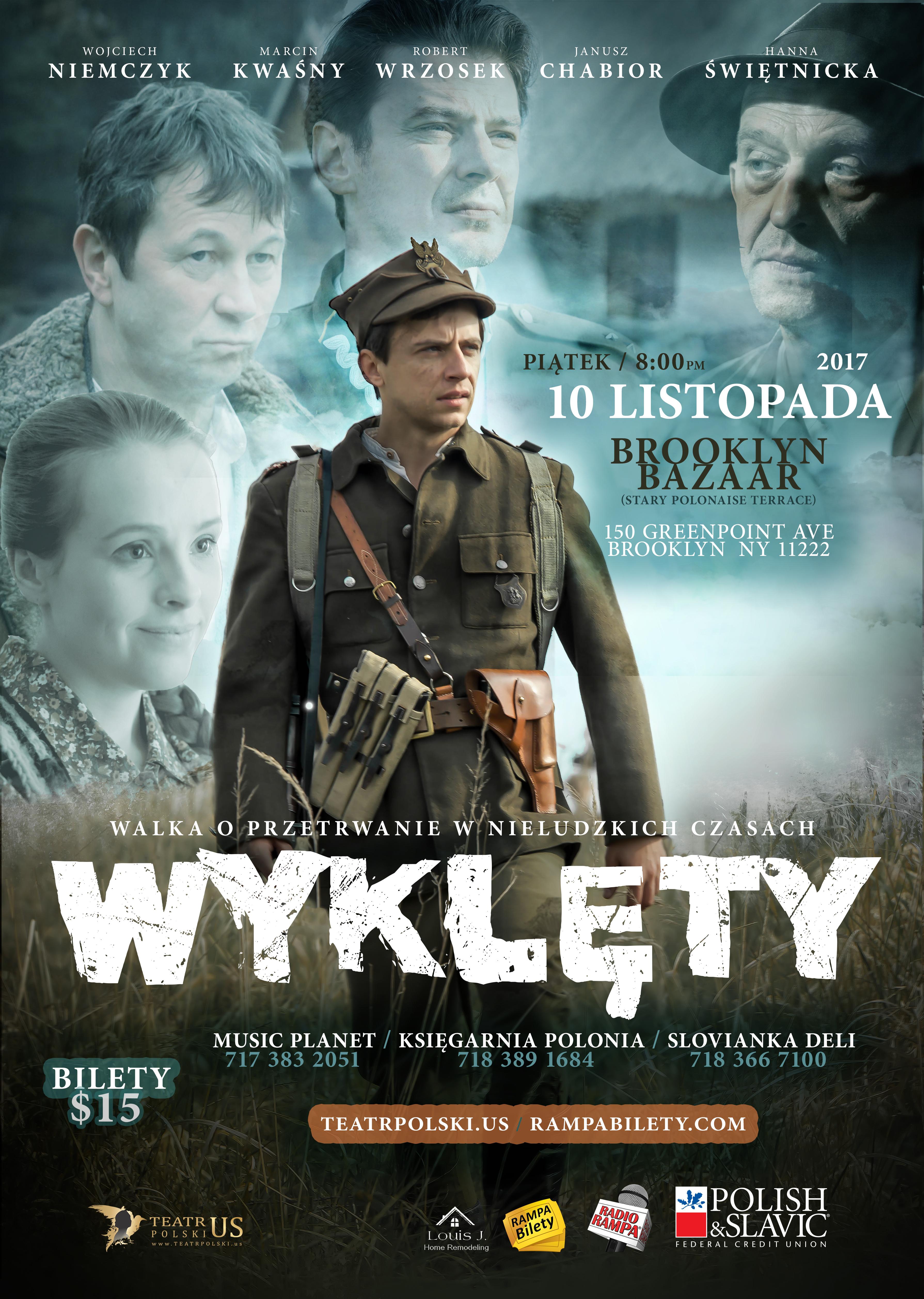 """Polski film """"Wyklety"""" w  Brooklyn Bazaar na Greenpoincie"""