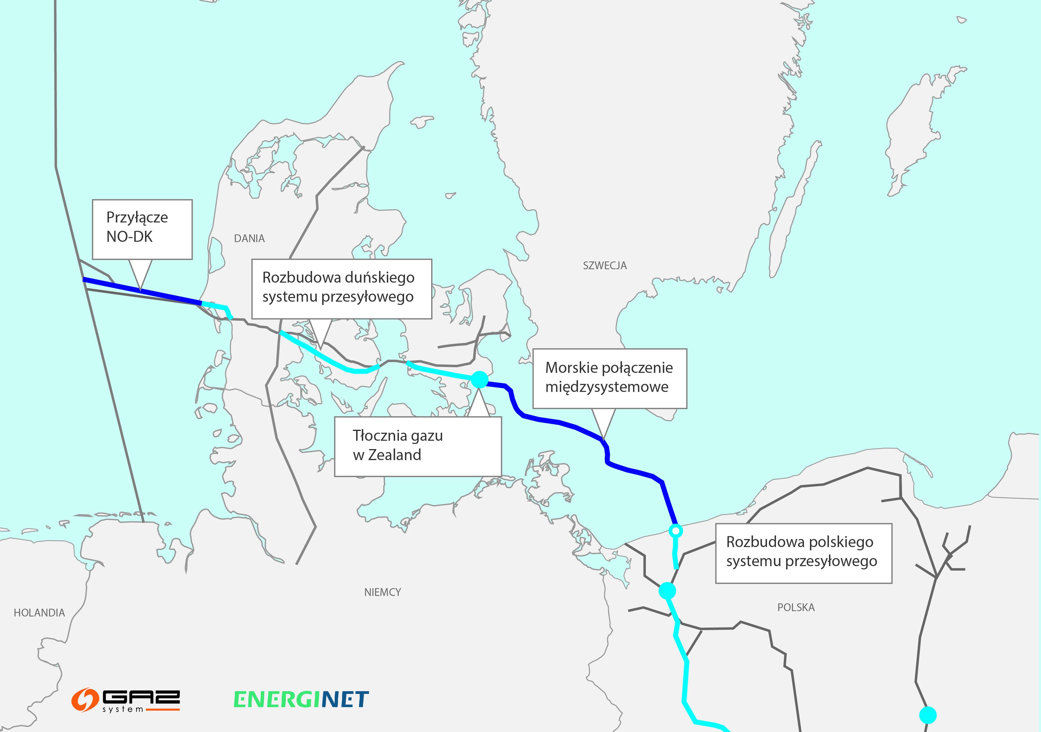 Dania: Rząd zgodził się na budowę Baltic Pipe, który umożliwi dostawy do Polski gazu ziemnego z Norwegii