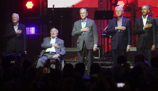 Pięciu byłych prezydentów USA na koncercie dla poszkodowanych przez huragany