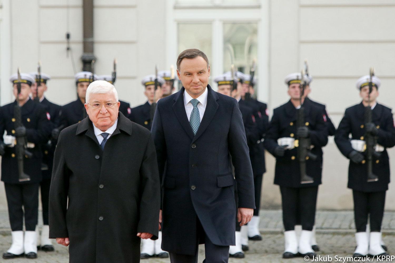 Prezydent Duda po spotkaniu ze irackim prezydentem: Polskę i Irak łączą zarówno długie relacje dyplomatyczne, jak też gospodarcze