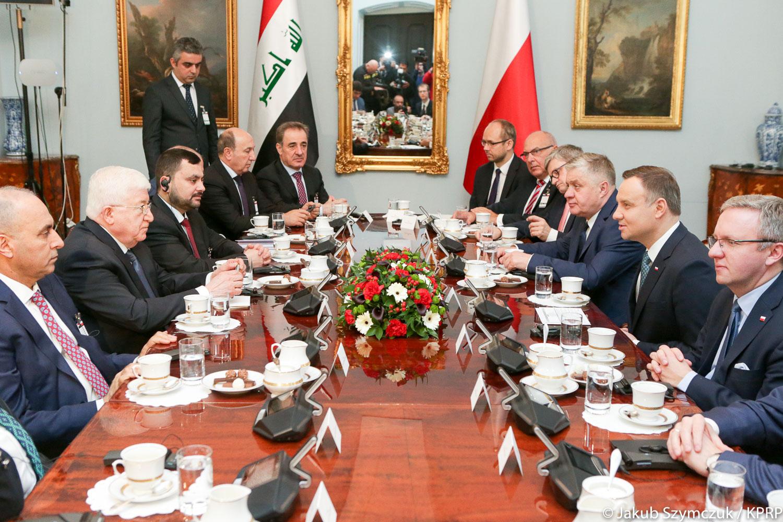 Prezydenci Polski i Iraku zachęcają do zacieśnienia wzajemnych relacji gospodarczych