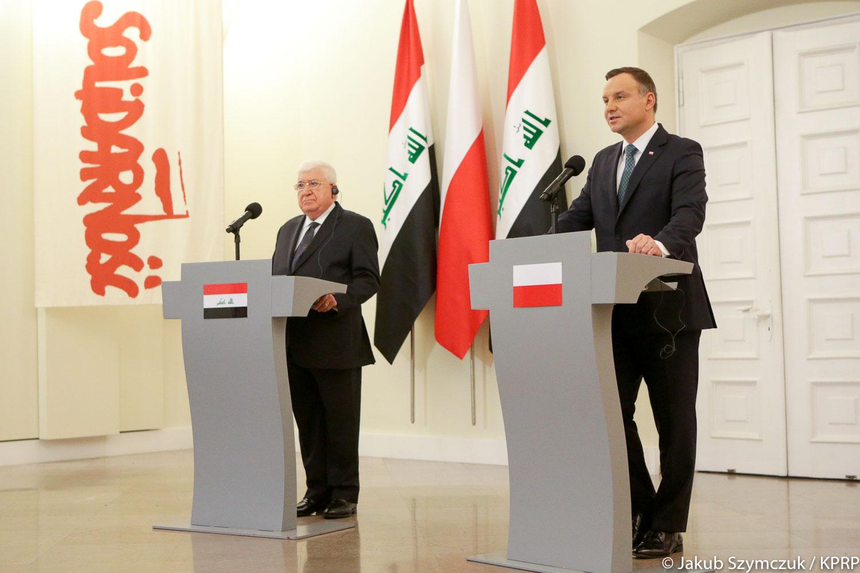 Gafa irackiego prezydenta w Polsce. Konsternacja wśród dziennikarzy