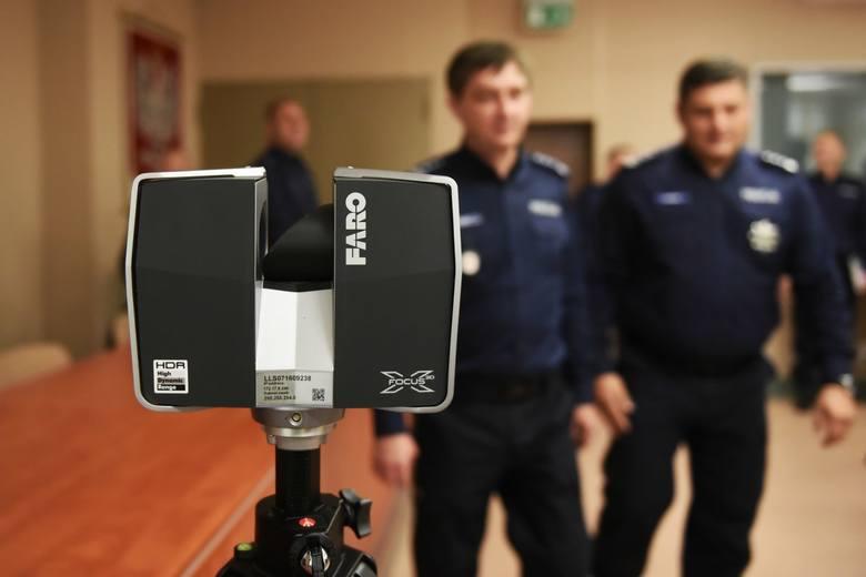 Poznańscy policjanci będą skanować miejsca zbrodni jak agenci FBI