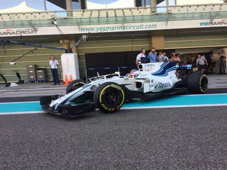 Formuła 1: Robert Kubica testuje bolidy w Abu Zabi