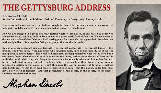 Muzeum im. Abrahama Lincolna w Springfield wystawi kopię przemowy gettysburskiej