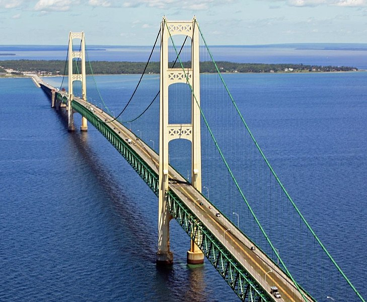 Mackinac Bridge w Michigan skończył 60 lat