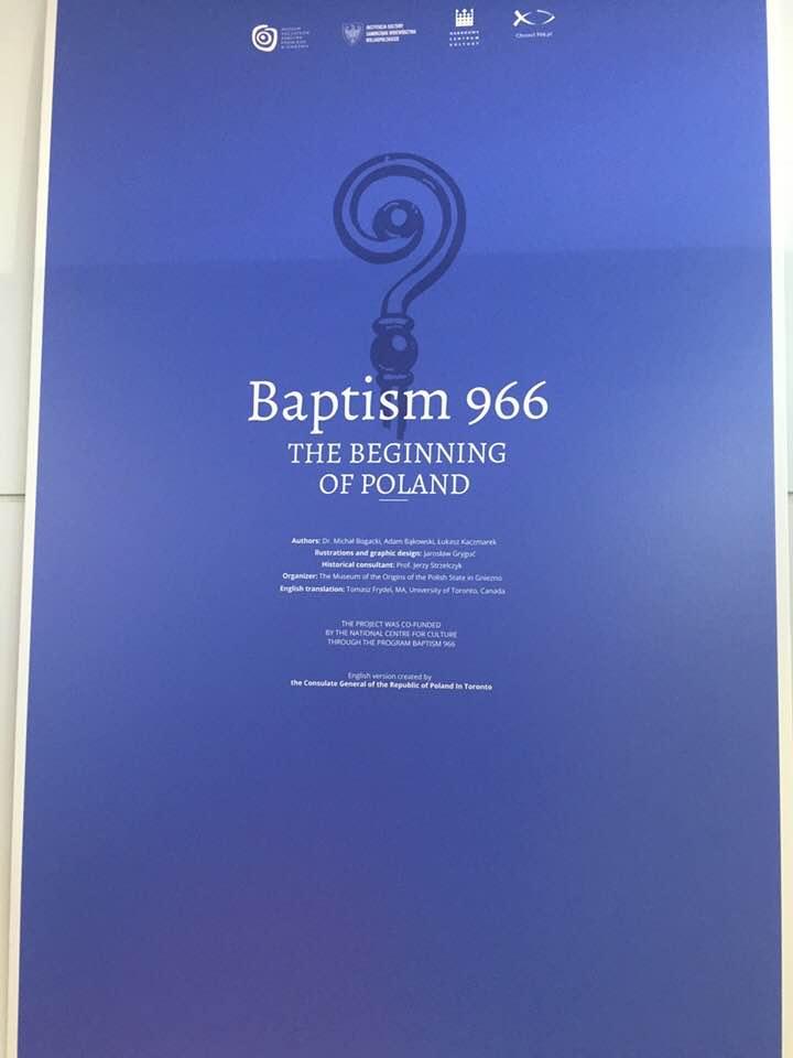 """Uroczyste otwarcie wystawy """"Chrzest 966. U Żródeł Polski"""" """"Baptism 966. The Beginning of Poland"""""""