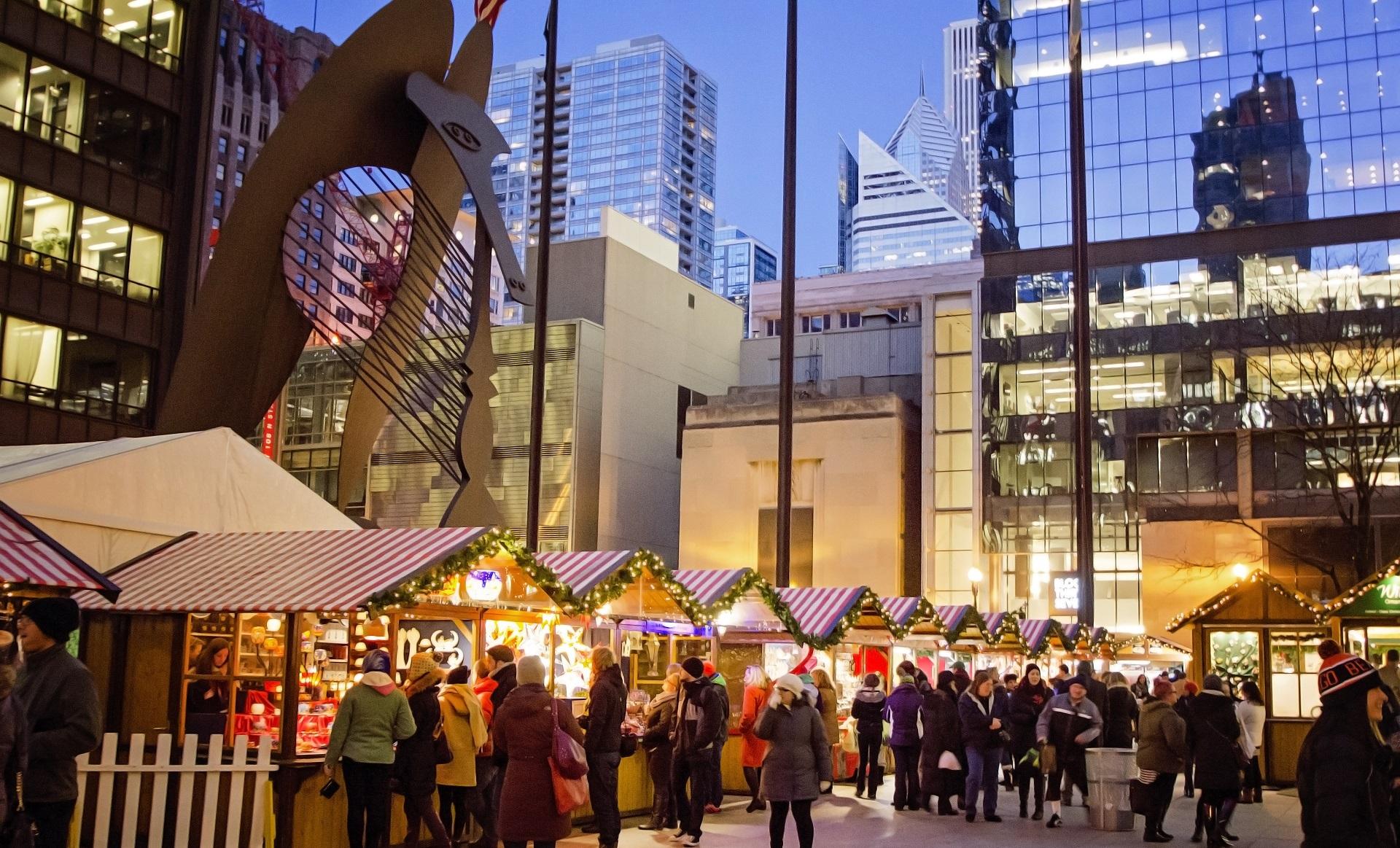Chciago najbardziej bożonarodzeniowym miastem w USA